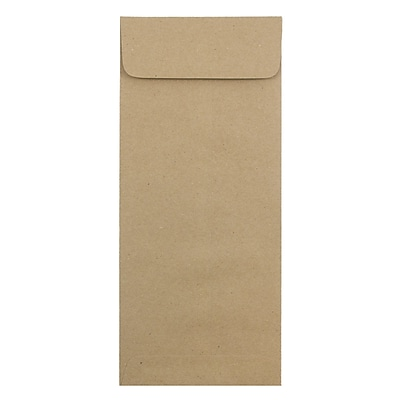 JAM Paper® #14 Policy Envelopes, 5 x 11.5, Brown Kraft Paper Bag Recycled, 500/box (36317569H)