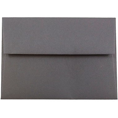 JAM Paper® 4bar A1 Envelopes, 3 5/8 x 5 1/8, Dark Grey, 1000/carton (36396431B)