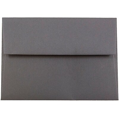 JAM Paper® 4bar A1 Envelopes, 3 5/8 x 5 1/8, Dark Grey, 250/box (36396431H)