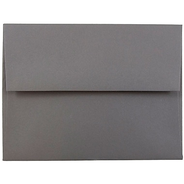 JAM Paper® A2 Invitation Envelopes, 4 3/8 x 5 3/4, Dark Grey, 50/pack (36396432I)