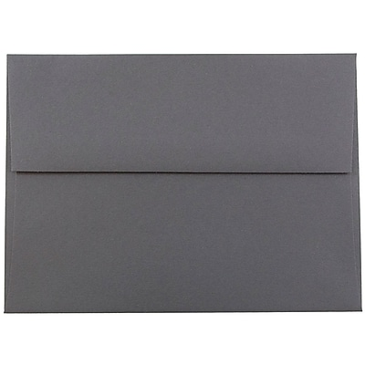 JAM Paper® A6 Invitation Envelopes, 4.75 x 6.5, Dark Grey, 1000/carton (36396433B)