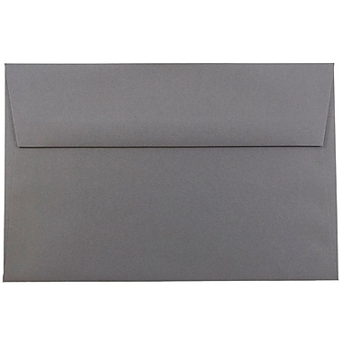 JAM Paper® A9 Invitation Envelopes, 5.75 x 8.75, Dark Grey, 1000/carton (36396436B)