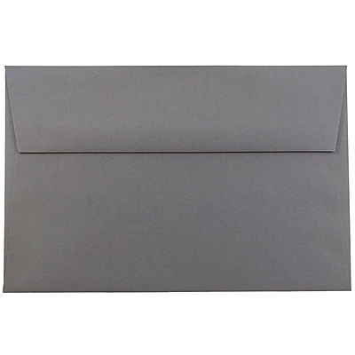 JAM Paper® A9 Invitation Envelopes, 5.75 x 8.75, Dark Grey, 25/pack (36396436)