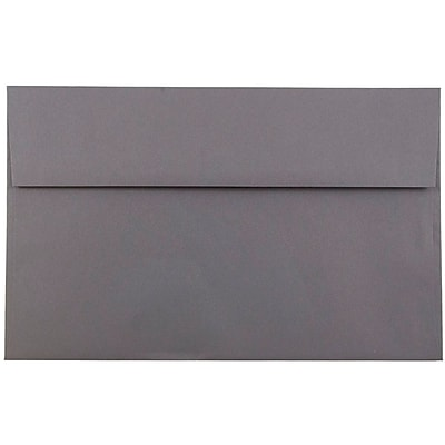 JAM Paper® A10 Invitation Envelopes, 6 x 9.5, Dark Grey, 250/box (36396437H)