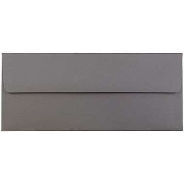 JAM Paper® #10 Business Envelopes, 4 1/8 x 9 1/2, Dark Grey, 500/box (36396438H)