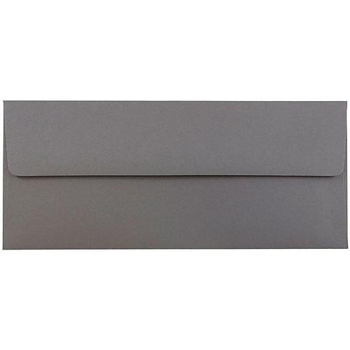 JAM Paper® #10 Business Envelopes, 4.125 x 9.5, Dark Grey, 50/Pack (36396438I)
