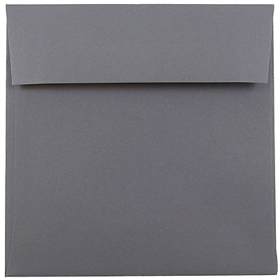 JAM Paper® 6 x 6 Square Envelopes, Dark Grey, 50/pack (36396439I)