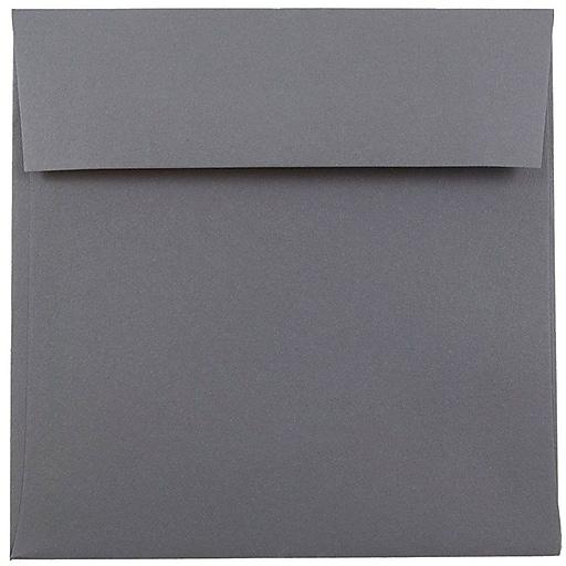 JAM Paper® 6 x 6 Square Invitation Envelopes, Dark Grey, Bulk 250/Box (36396439H)