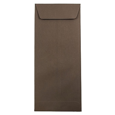 JAM Paper® #14 Policy Envelopes, 5 x 11.5, Chocolate Brown Recycled, 25/pack (90094030)