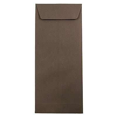 JAM Paper® #14 Policy Envelopes, 5 x 11.5, Chocolate Brown Recycled, 50/pack (90094030I)