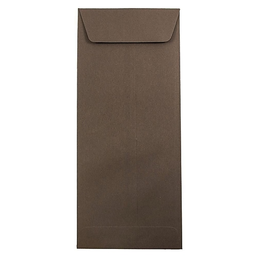 JAM Paper® #14 Policy Business Envelopes, 5 x 11.5, Chocolate Brown Recycled, 50/Pack (90094030I)