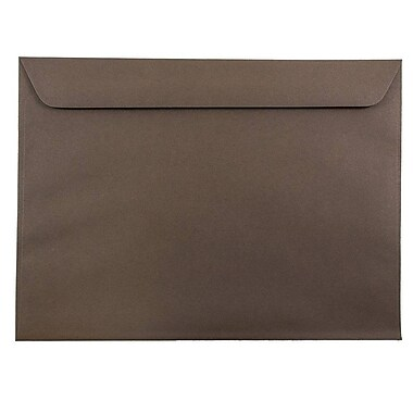 JAM Paper® 9 x 12 Booklet Envelopes, Chocolate Brown Recycled, 1000/carton (572315992B)