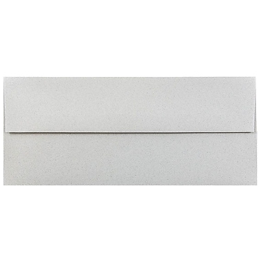 JAM Paper® #10 Business Envelopes, 4 1/8 x 9 1/2, Granite Grey Recycled, 25/pack (900787003)