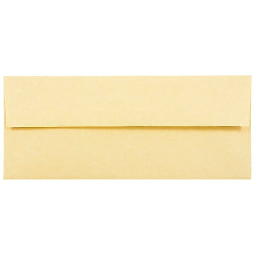 JAM Paper® #10 Business Parchment Envelopes, 4.125 x 9.5, Antique Gold Recycled, 50/Pack (900906635I)