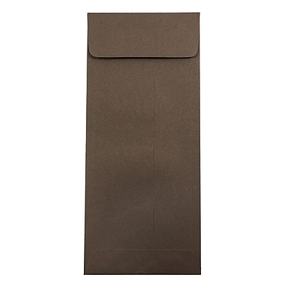 JAM Paper® #12 Policy Envelopes, 4.75 x 11, Chocolate Brown Recycled, 1000/carton (900940723B)