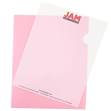 JAM Paper® Plastic Sleeves, 9 x 11.5, Red, 600/box (2226316989C)