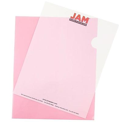 JAM Paper® Plastic Sleeves, 9 x 11.5, Red, 12/pack (2226316989)
