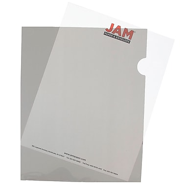 JAM Paper® Plastic Sleeves, 9 x 11.5, Smoke Grey 120/box (2226316990B)