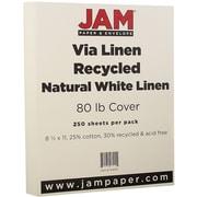 JAM Paper® Strathmore Cardstock, 8.5 x 11, 80lb Natural White Linen, 250/ream (144010B)