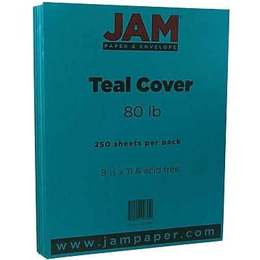 JAM Paper® Matte Cardstock, 8.5 x 11, 80lb Teal Blue, 250/Pack (1524384B)