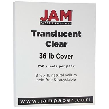 JAM Paper® Translucent Vellum Cardstock, 8.5 x 11, 36lb Clear, 250/ream (1566B)