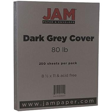 JAM Paper® Matte Cardstock, 8.5 x 11, 80lb Dark Grey, 250/ream (26396471B)