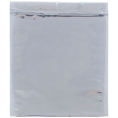 JAM Paper® Foil Envelopes with Zip Lock Closure, 10 x 13, Clear Foil, 100/pack (3001013A58A4B)