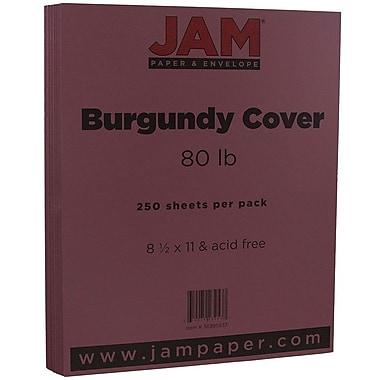 JAM PaperMD – Papier couverture cartonné, 8 1/2 x 11 po, bourgogne, 250 feuilles/rame