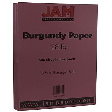 JAM Paper® Matte Paper, 8.5 x 11, 28lb Burgundy, 500/box (36395839B)