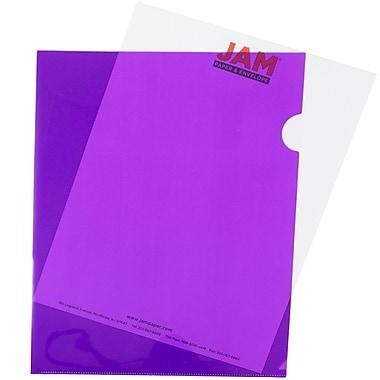 JAM PaperMD – Pochette en plastique, 9 x 11,5, violet, 120/paquet