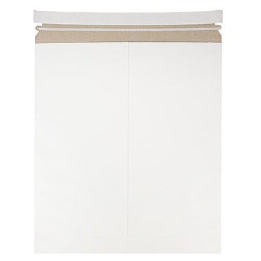 JAM Paper Photo Mailer Stiff Envelopes with Self Adhesive Closure, 12.75 x 15, White Recycled, 6/Pack