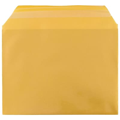 JAM Paper® Cello Sleeves, A6, 4 5/8 x 6 7/16, Gold, 100/pack (56SGD1)