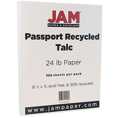 Jam PaperMD – Papier recyclé lisse de format passeport, 8 1/2 x 11 po, talc, paq./500