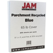 JAM Paper® Parchment Cardstock, 8.5 x 11, 65lb Blue Recycled, 250/ream (96700000B)
