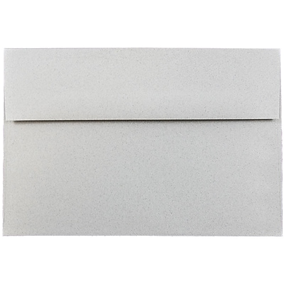 JAM Paper® A8 Invitation Envelopes, 5.5 x 8.125, Granite Grey Recycled, 50/pack (CPPT755I)