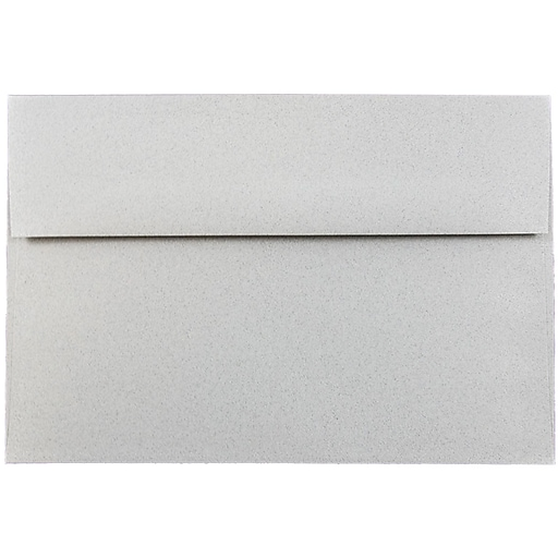 JAM Paper® A8 Passport Invitation Envelopes, 5.5 x 8.125, Granite Silver Recycled, 50/Pack (CPPT755I)