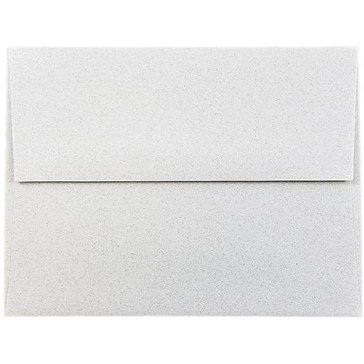 JAM Paper® A2 Passport Invitation Envelopes, 4.375 x 5.75, Granite Silver Recycled, Bulk 1000/Carton (CPST605B)