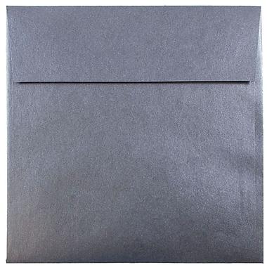 JAM Paper® 6.5 x 6.5 Square Envelopes, Stardream Metallic Anthracite Black, 250/box (GCST506H)