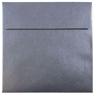 JAM Paper® 6.5 x 6.5 Square Envelopes, Stardream Metallic Anthracite Black, 250/box (GCST506H)