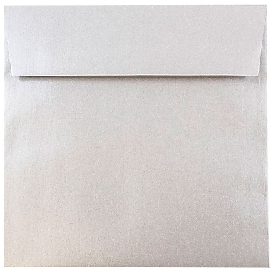 JAM Paper® 6.5 x 6.5 Square Envelopes, Stardream Metallic Silver, 25/pack (GCST509)