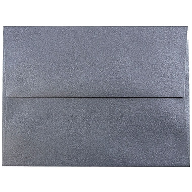 JAM Paper® A2 Invitation Envelopes, 4 3/8 x 5 3/4, Stardream Metallic Anthracite Black, 50/pack (GCST606I)