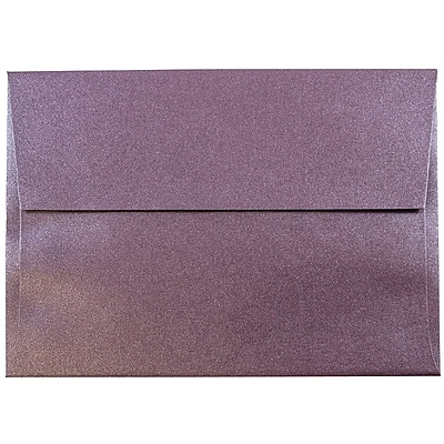 JAM Paper® A6 Invitation Envelopes, 4.75 x 6.5, Stardream Metallic Ruby Purple, 50/pack (GCST654I)