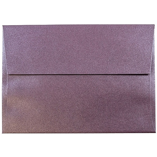 JAM Paper® A6 Metallic Invitation Envelopes, 4.75 x 6.5, Stardream Ruby Purple, 50/Pack (GCST654I)
