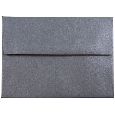 JAM Paper® A6 Invitation Envelopes, 4.75 x 6.5, Stardream Metallic Anthracite Black, 250/box (GCST656H)