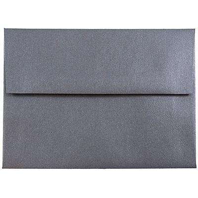 JAM Paper® A6 Invitation Envelopes, 4.75 x 6.5, Stardream Metallic Anthracite Black, 250/box (GCST656H)