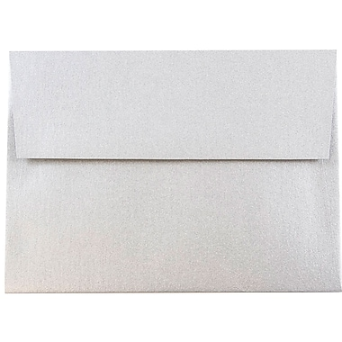 JAM Paper® A6 Invitation Envelopes, 4.75 x 6.5, Stardream Metallic Silver, 25/pack (GCST659)