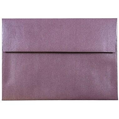 JAM Paper® A7 Invitation Envelopes, 5.25 x 7.25, Stardream Metallic Ruby Purple, 25/pack (GCST704)