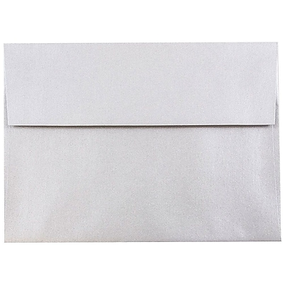 JAM Paper® A7 Invitation Envelopes, 5.25 x 7.25, Stardream Metallic Silver, 50/pack (GCST709I)