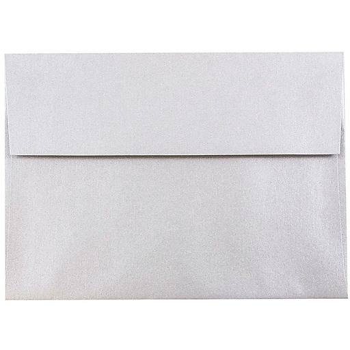 JAM Paper® A7 Metallic Invitation Envelopes, 5.25 x 7.25, Stardream Silver, 50/Pack (GCST709I)