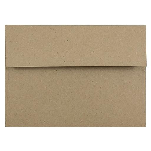 JAM Paper® A7 Invitation Envelopes, 5.25 x 7.25, Brown Kraft Paper Bag, Bulk 250/Box (LEKR700H)